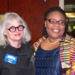 Two awesome peace activists Anncha Briggs and Leymah Gbowee