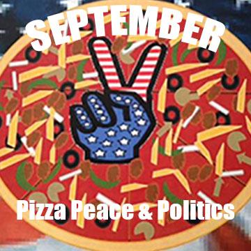 Pizza, Peace & Politics logo